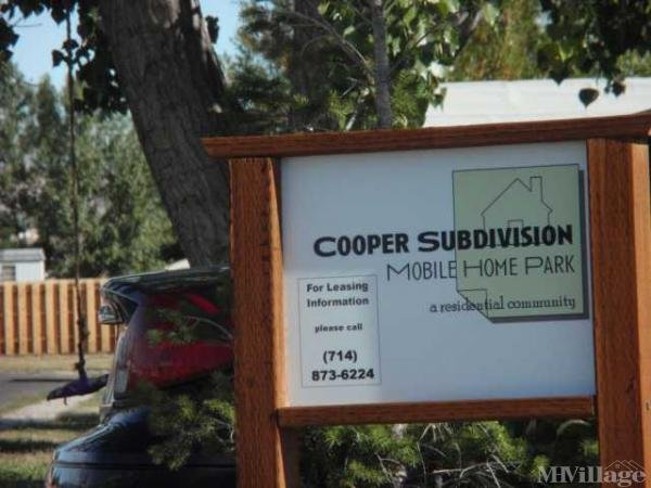 Cooper Subdivision Mobile Home park Mobile Home Park in Cody, WY