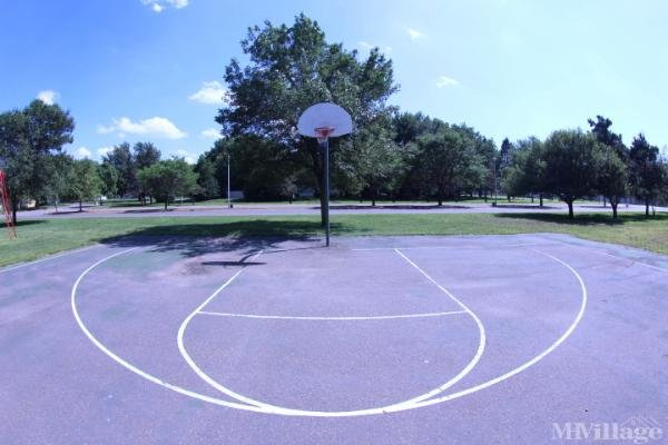 Basketball court on site