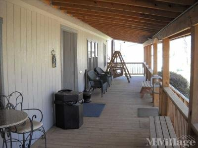 Large porch for relaxing