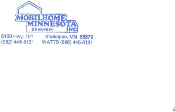 Mobilhome Minnesota mobile home dealer with manufactured homes for sale in Shakopee, MN. View homes, community listings, photos, and more on MHVillage.