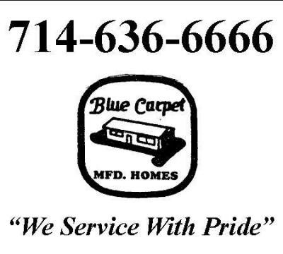 Blue Carpet Mfd. Homes mobile home dealer with manufactured homes for sale in Fountain Valley, CA. View homes, community listings, photos, and more on MHVillage.