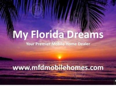 My Florida Dreams mobile home dealer with manufactured homes for sale in Ellenton, FL. View homes, community listings, photos, and more on MHVillage.
