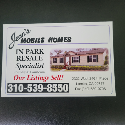 Mobile Home Dealer in Lomita CA